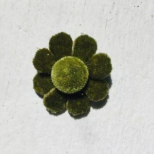 Vintage Green Velvet Plush Pin